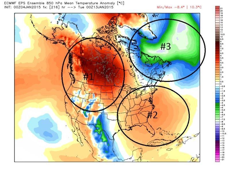 Ensemble Long Range Forecast Case Study #1 (500mb and 850mb) Jan4th11