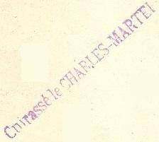 * CHARLES MARTEL (1897/1919) * 06-0310