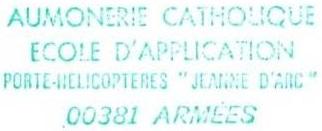 + AUMÔNERIE CHRETIENNE CATHOLIQUE DE LA MARINE + 200-1213