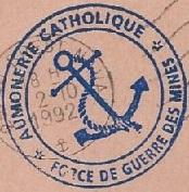 + AUMÔNERIE CHRETIENNE CATHOLIQUE DE LA MARINE + 92-1010