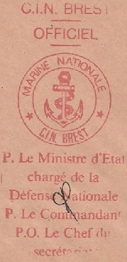 * BREST, Centre d'Instruction Navale  (C.I.N) * 96-0112