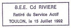 * COMMANDANT RIVIÈRE (1962/1992) * Toulon19