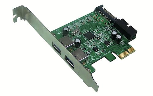 PCI Express Mediasonic HP1-U32F 2 Port External USB 3.0 Crte10