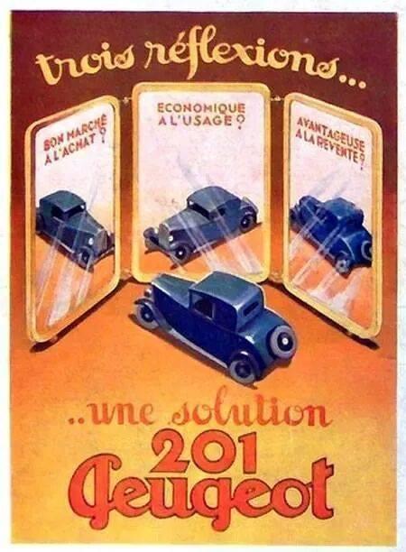 PUB Peugeot  d'époque 10297610