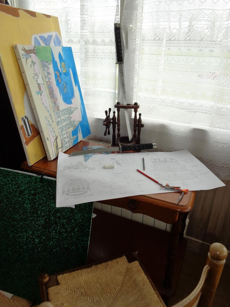 cartes et plans (de maître léonard) D110