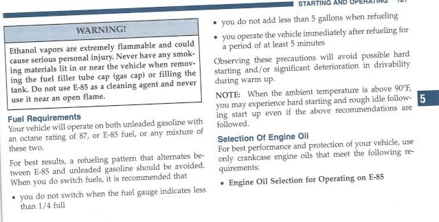 Mon 3.8L n'aime pas l'éthanol 18110