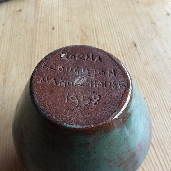 Anyone able to shed light on Norma on this studio pottery vase date 1958? Img_0018