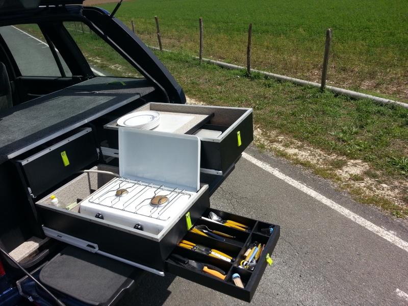 Aménagement coffre tiroirs et plancher total by LANDSPIRIT- VENDU 20140716