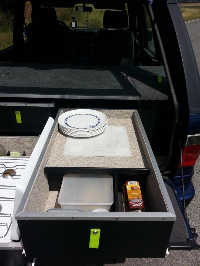 Aménagement coffre tiroirs et plancher total by LANDSPIRIT- VENDU 20140718