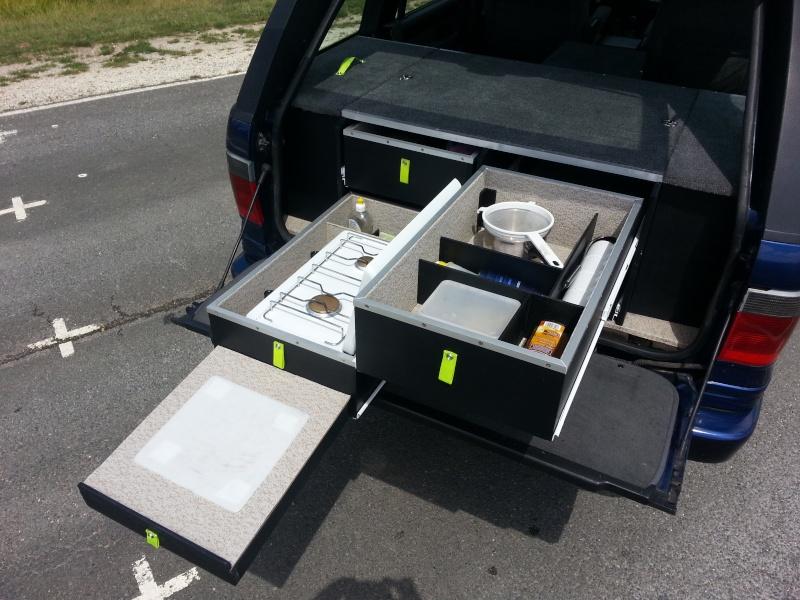Aménagement coffre tiroirs et plancher total by LANDSPIRIT- VENDU 20140719