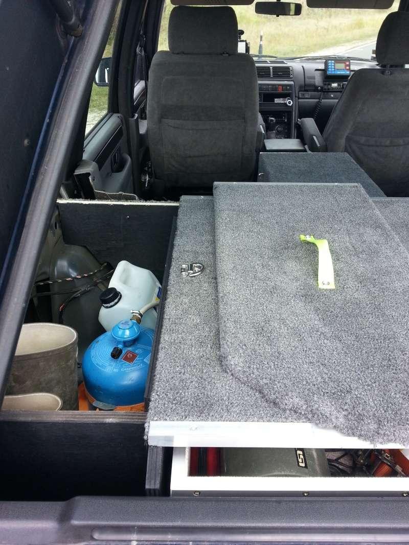 Aménagement coffre tiroirs et plancher total by LANDSPIRIT- VENDU 20140720