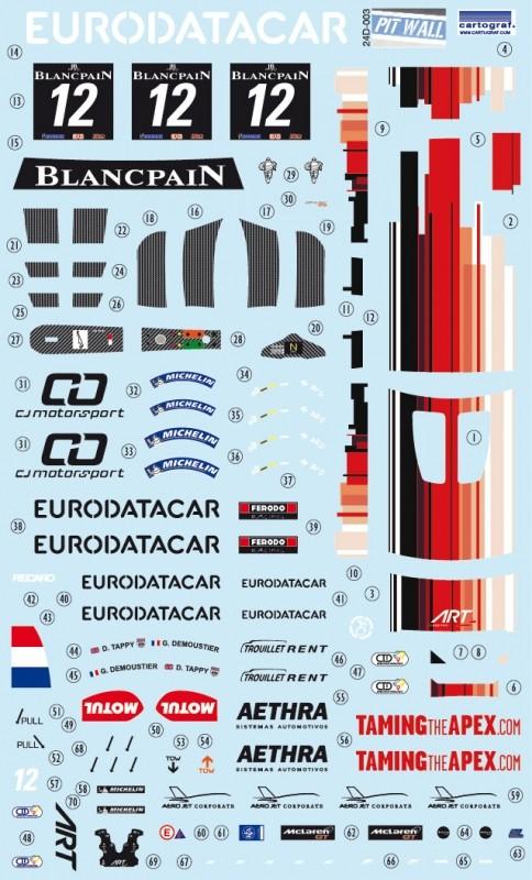 McLaren MP4/12C GT3 ART Grand Prix Kit Fujimi Décal PitWall Pit10