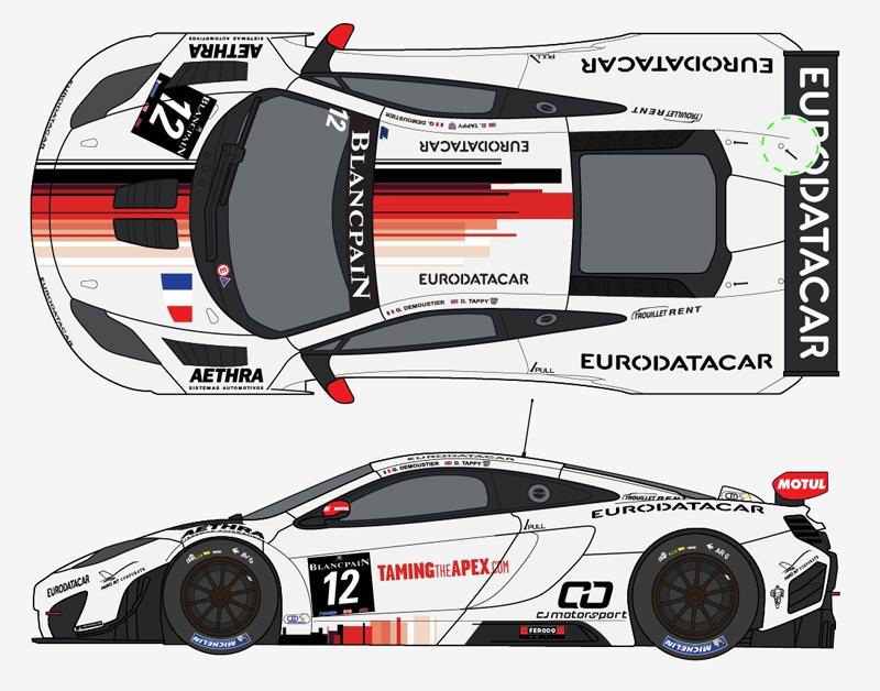 McLaren MP4/12C GT3 ART Grand Prix Kit Fujimi Décal PitWall Posear10