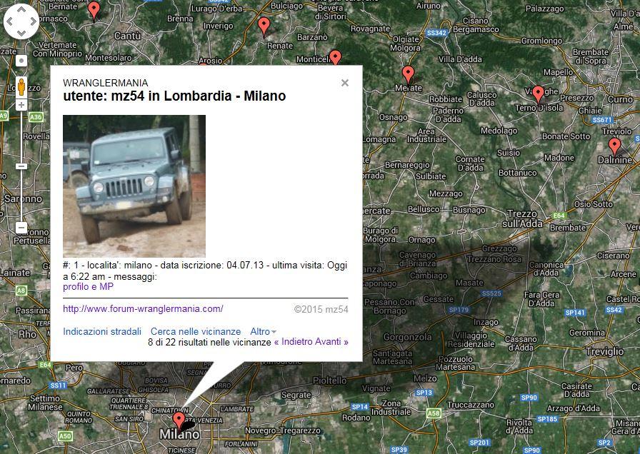 mappa lista ultimi 1000 utenti attivi creata dinamicamente Mz5411