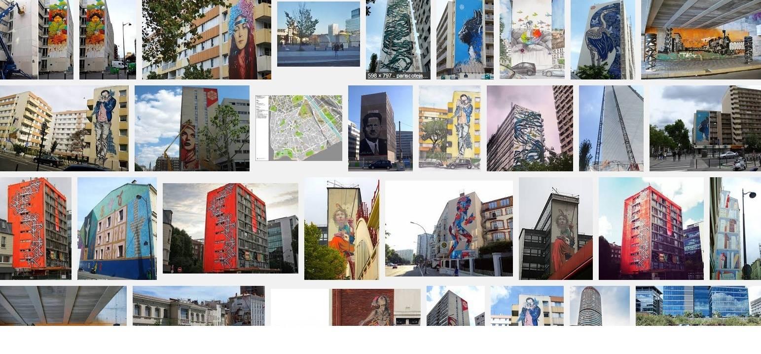 Les fresques murales dans 13ème Arrondissement de Paris, France. Fres1310