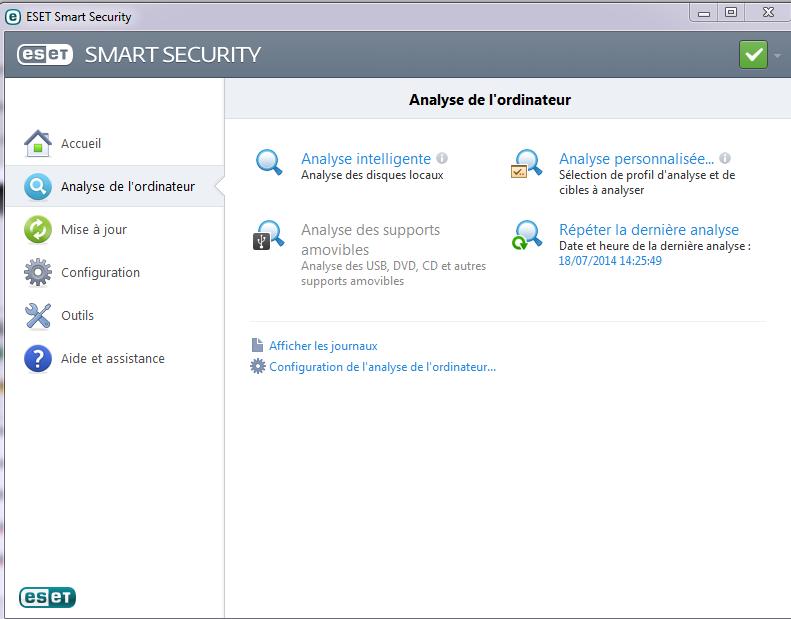 Test et présentation Eset Smart Security Eset-a11