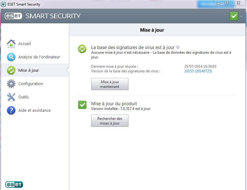 Test et présentation Eset Smart Security Eset-a12