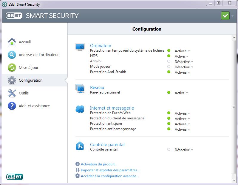 Test et présentation Eset Smart Security Eset-a13