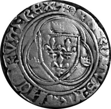 Blanc à la couronne Charles VII Troyes à préciser Avers311