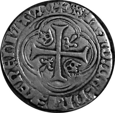 Blanc à la couronne Charles VII Troyes à préciser Revers10