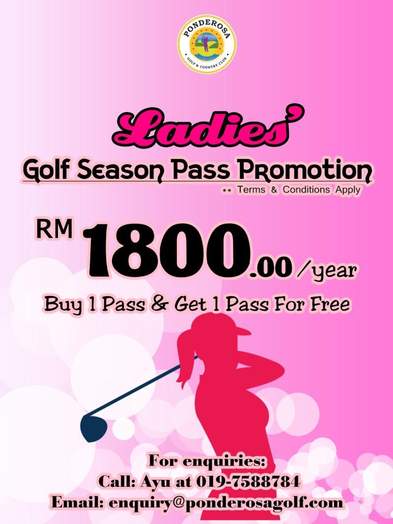 Ladies' Golf Season Pass Pink-p11
