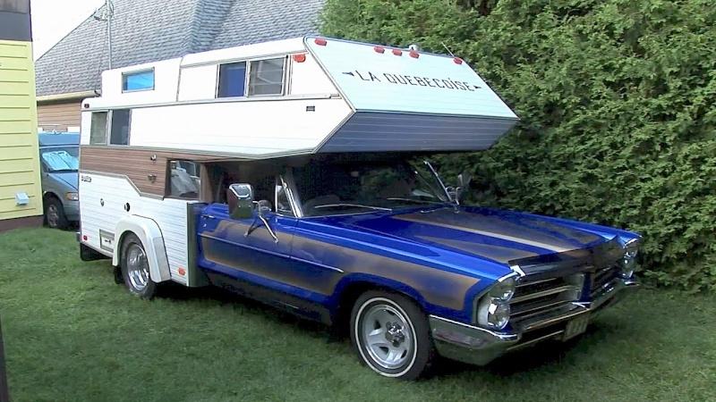 La Québécoise : un campeur conçu avec une auto Pontiac 1965  La_que10