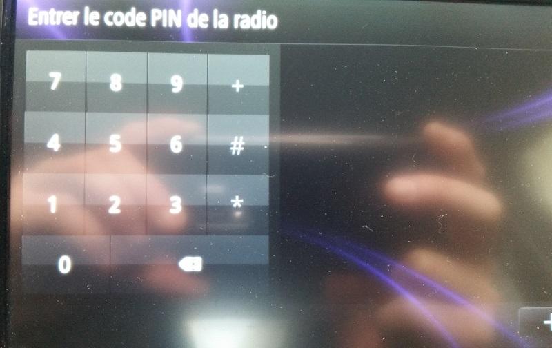 Entrer le code PIN de la radio Code_p10