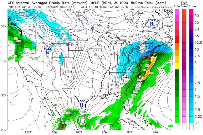 Update #2: 1st Call Snow Map, Intense Winter Storm Coming  - Page 4 Gfs_ms10