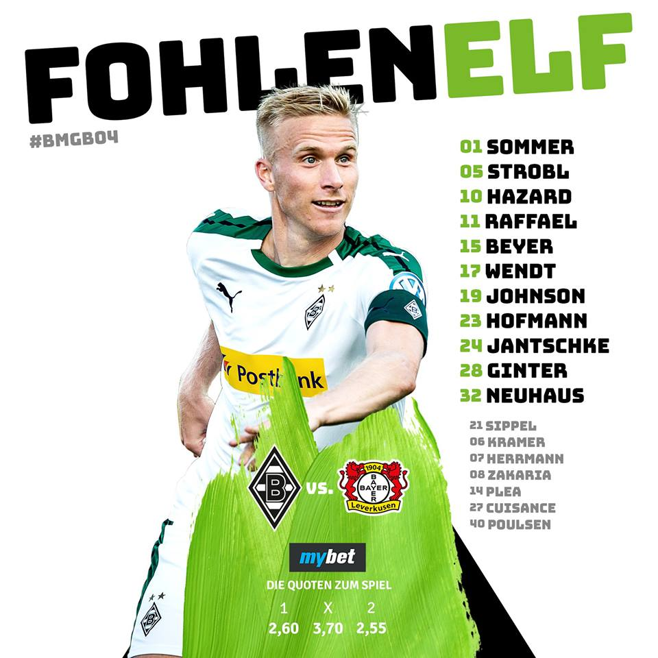 1. Spieltag: Die Fohlenelf empfängt die Werkself 40041110