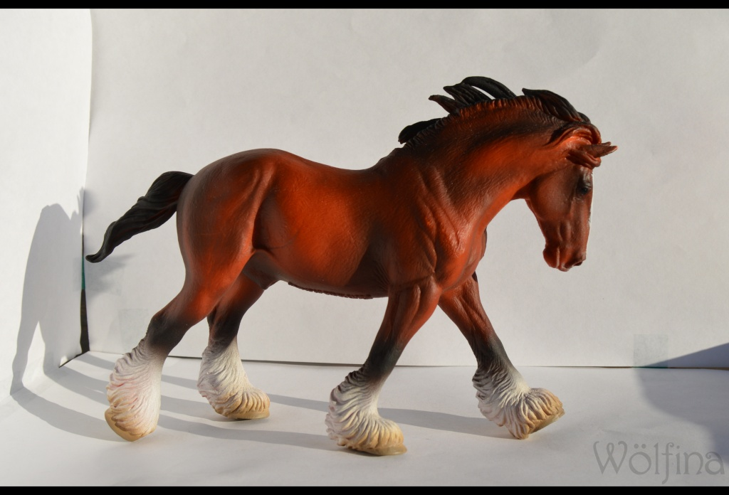 4 CollectA horses:Morgan, Standardbred Pacer Stallion, Clydestale, Thoroughbred Mare Dsc_1310