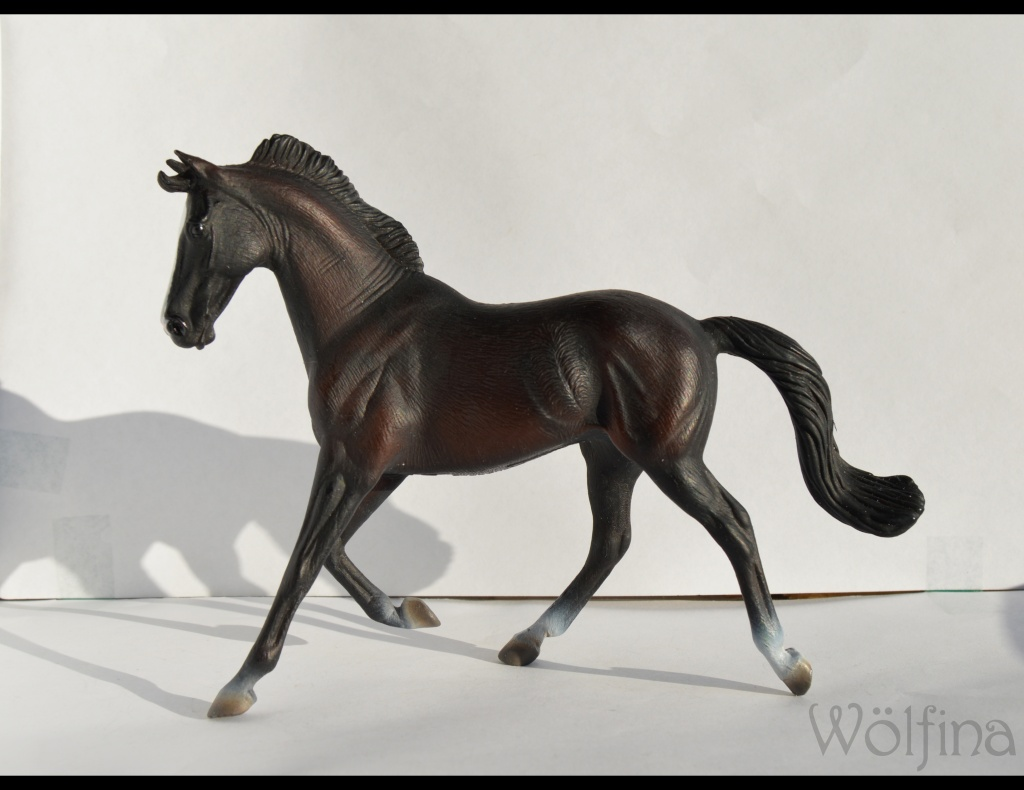 4 CollectA horses:Morgan, Standardbred Pacer Stallion, Clydestale, Thoroughbred Mare Dsc_1314