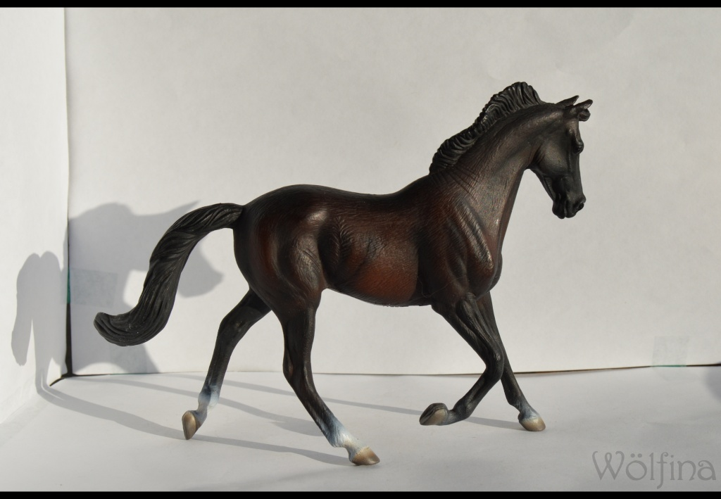 4 CollectA horses:Morgan, Standardbred Pacer Stallion, Clydestale, Thoroughbred Mare Dsc_1317