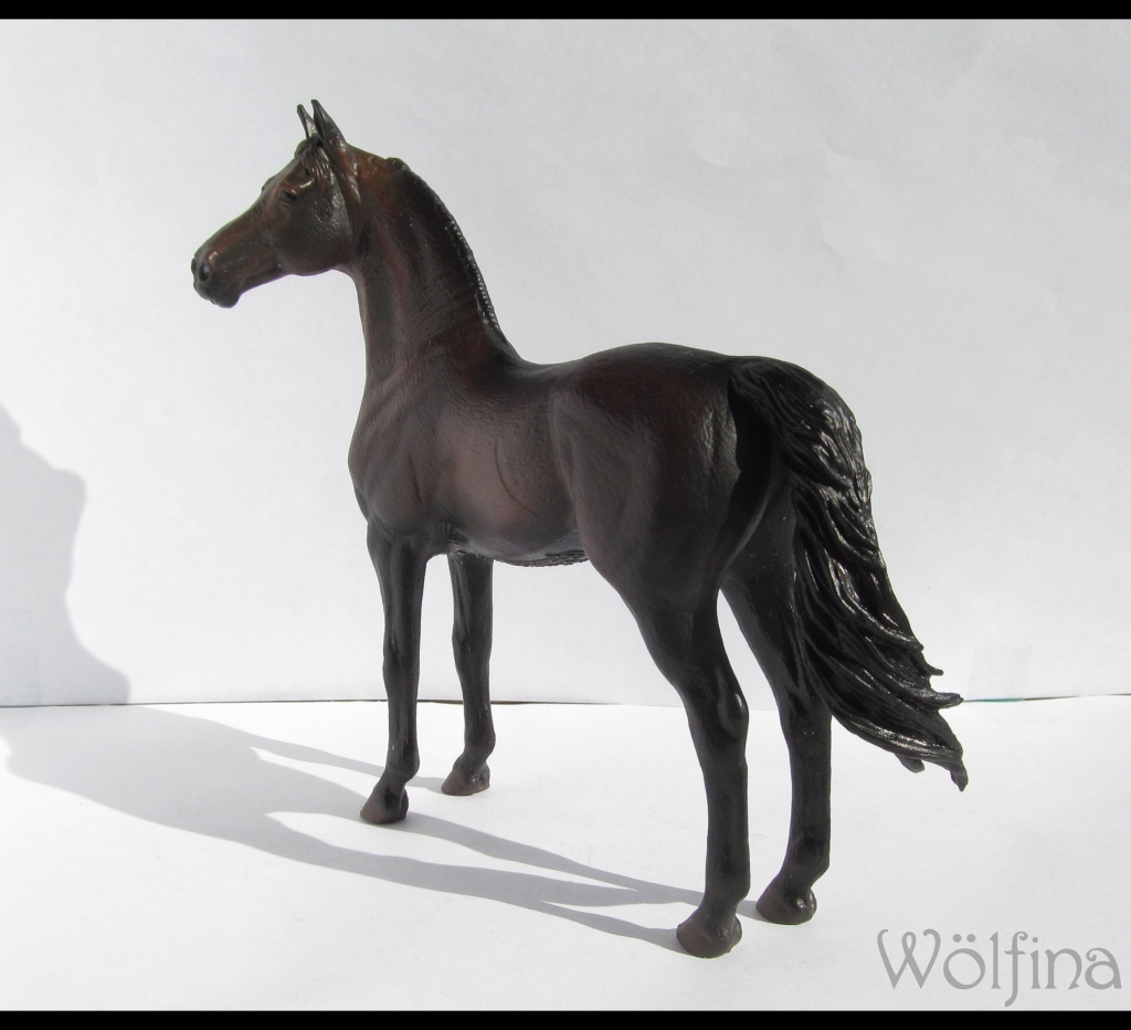 4 CollectA horses:Morgan, Standardbred Pacer Stallion, Clydestale, Thoroughbred Mare Img_6114