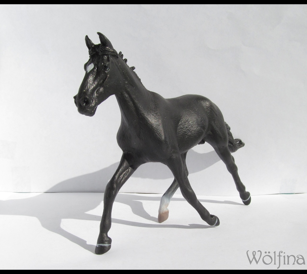 4 CollectA horses:Morgan, Standardbred Pacer Stallion, Clydestale, Thoroughbred Mare Img_6118