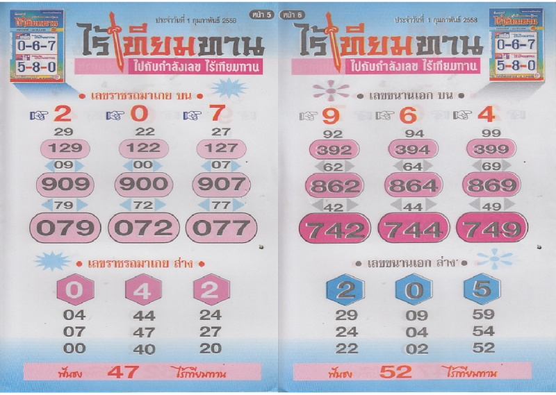 01-02-15 Thai Lottery Magazine Tips Raitie12