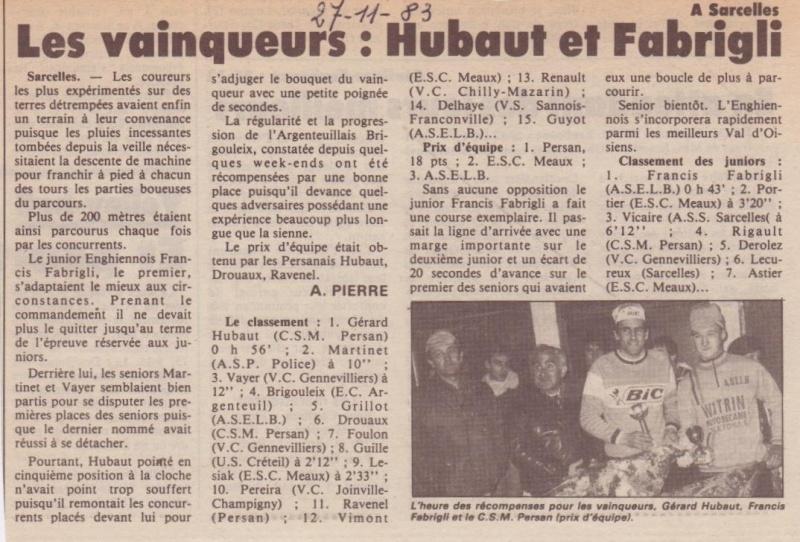 CSM.Persan. BIC. Toute une époque de janvier 1984 à janvier 1990 - Page 2 G_huba11