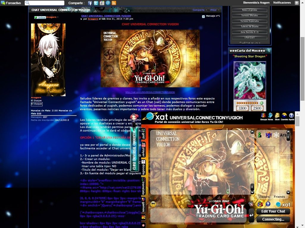 CHAT UNIVERSAL CONNECTION YUGIOH Result10