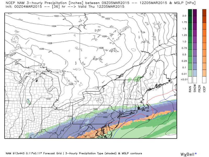 1st Call Snow Map, March 4th-5th  - Page 2 Nam_pt11