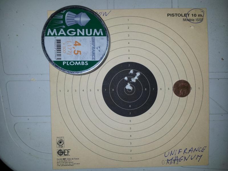comparo unifrance magnum, gamo lethal, TS10, rocket, expander, match... Unifra10
