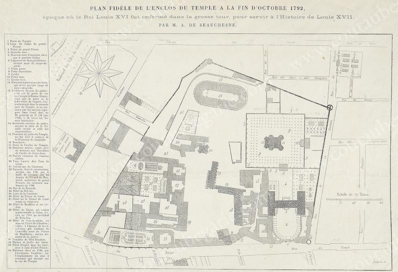 Plans et aménagements du donjon du Temple : la grande tour, la petite tour 14242716