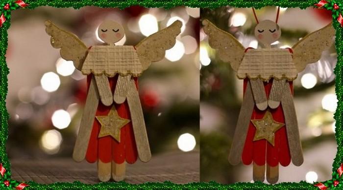 Un ange avec des bâtonnets de bois 000_0880