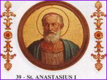 Chronologie des papes - Anastase 1er 000_1132