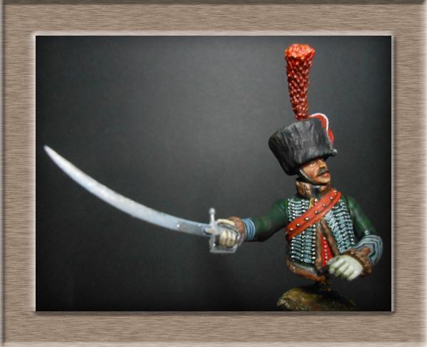 Chef d'escadron Chasseurs à cheval cavalerie légère Métal modèles 54mm 74_10211