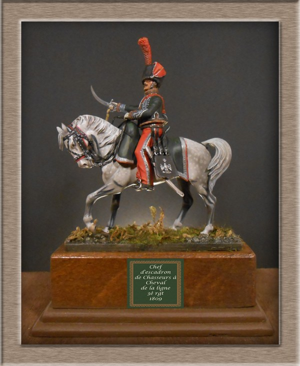 Chef d'escadron de Chasseurs à Cheval de la ligne 3è rgt 1809 MM 54mm 74_10511