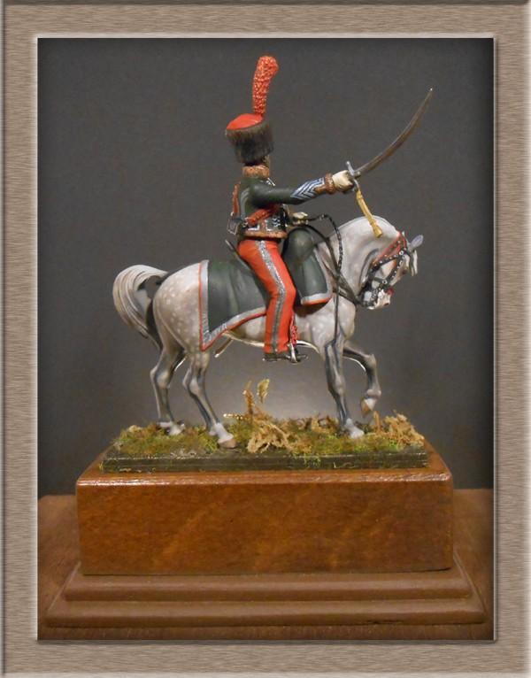 Chef d'escadron de Chasseurs à Cheval de la ligne 3è rgt 1809 MM 54mm 74_10611