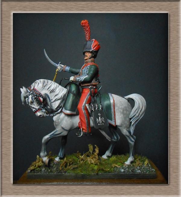 Chef d'escadron de Chasseurs à Cheval de la ligne 3è rgt 1809 MM 54mm 74_10911