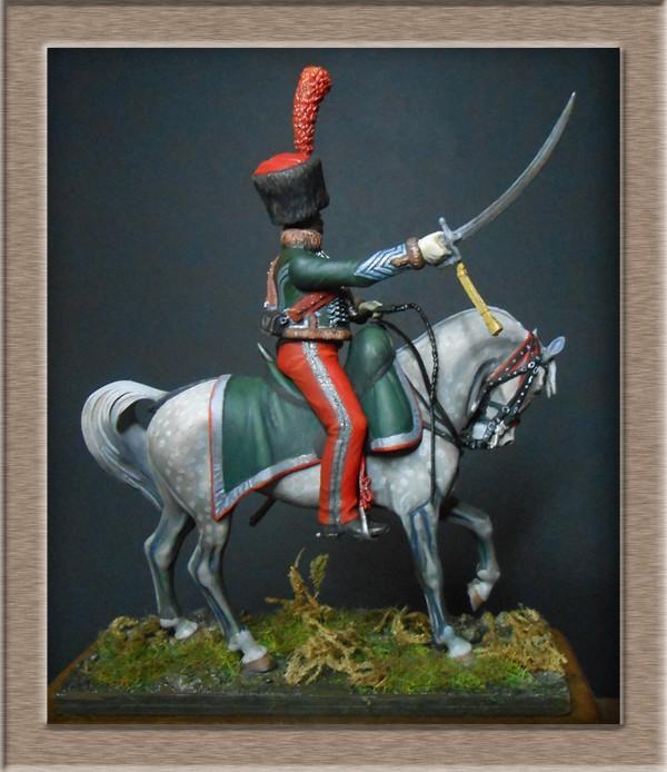 Chef d'escadron de Chasseurs à Cheval de la ligne 3è rgt 1809 MM 54mm 74_11012