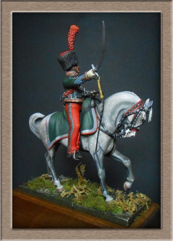 Chef d'escadron de Chasseurs à Cheval de la ligne 3è rgt 1809 MM 54mm 74_11112