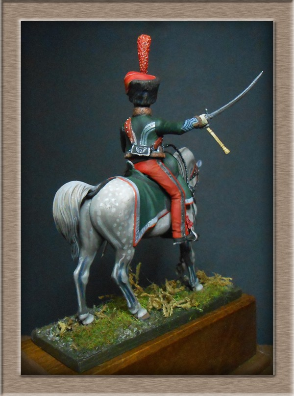 Chef d'escadron de Chasseurs à Cheval de la ligne 3è rgt 1809 MM 54mm 74_11113
