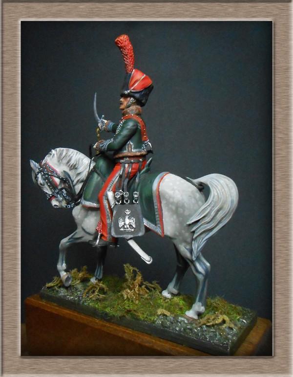 Chef d'escadron de Chasseurs à Cheval de la ligne 3è rgt 1809 MM 54mm 74_11211